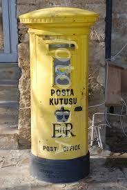 Yellow E2 postbox