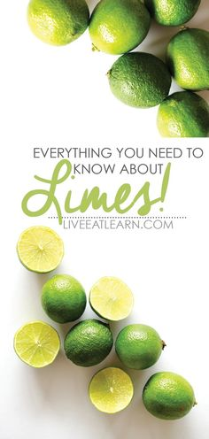 Everything you need to know about limes, including the variations, when it's in season, and the nutritional content! // Live Eat Learn