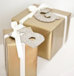 boxwood clippings_gold and cream gift wrap with pottery barn glitter letters