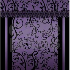 Shop Purple Blend Scroll Leaf Pattern Shower Curtain designed by Moonlake. Lots of different size and color combinations to choose from. Dark Purple Bathroom, Dark Purple Bedrooms, Purple Bedroom Design, Purple Home Decor, Bedroom Turquoise, Purple Bathrooms, Goth Home Decor, Purple Rooms, Plum Decor