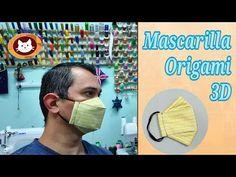 Como Hacer una Mascarilla Origami ( 3D ). Con tela de Algodón. - YouTube At Home Face Mask, Easy Face Masks, Diy Face Mask, Reuse Old Clothes, Mascara 3d, Sewing Binding, Origami 3d, Crochet Basket Pattern, 3d Tutorial