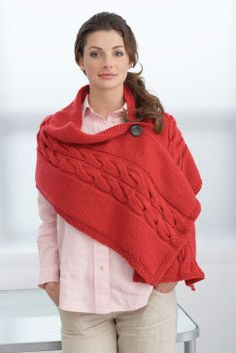 Create this beautiful cabled wrap with Loops & Threads™ Impeccable™.