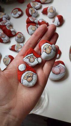 Decorazione sassi: Babbo Natale!