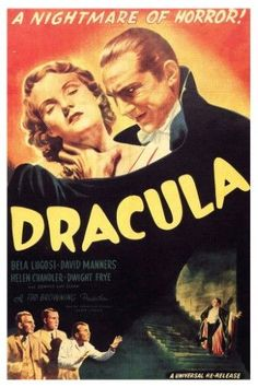 Dracula A Nightmare Of Horror Movie Film Classic Poster - 12x18