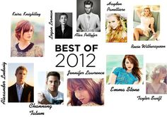 """""""Best of 2012 Celebrities"""" by julie-thompson ❤ liked on Polyvore"""