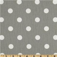 Polka Dot Table Runner in White on Grey by ShopLili on Etsy, $18.00