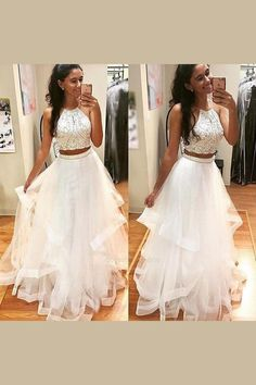 Absorbing Prom Dress For Teens, White Prom Dress, Prom Dress Two Piece Prom Dress Two Pieces Prom Dresses Prom Dresses White Prom Dresses For Teens Prom Dresses 2019 Wite Prom Dresses, Prom Dress Black, Prom Dresses For Teens Long, A Line Prom Dresses, Tulle Prom Dress, Pretty Dresses, Homecoming Dresses, Beautiful Dresses, Dress Long