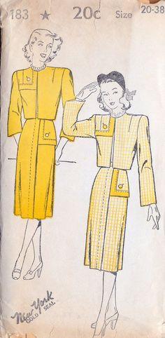1940s Misses Skirt and Bolero Jacket