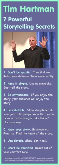 7 Storytelling Secrets by Tim Hartman