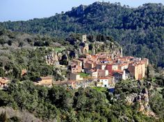 Chateaudouble a hilltop village in Provence, France