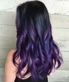 Black Hair With Purple Highlights that are not too light