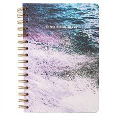 A5 Spiral Notebook - Find Your Bliss Wave