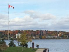 Falling fishing on the bay, Barrie Ontario