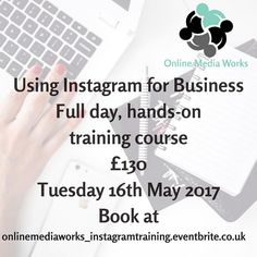 Are you looking to maximise the use of Instagram as part of your marketing strategy? Come and spend the day with me and I'll take you through step by step looking at set up building a library of assets a content strategy and much more! It's hands-on and practical and you'll leave with a clear plan to drive your business forward.