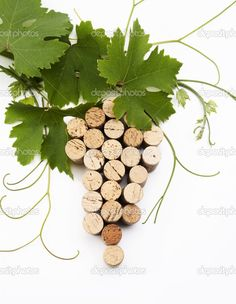 I'm going to have to go through a lot of wine bottles! Wine cork grape cluster! hangingwinerackonline.com