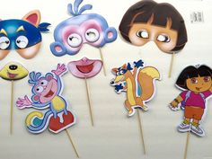 Dora the explorer photobooth props by 3sistersprettyparty on Etsy