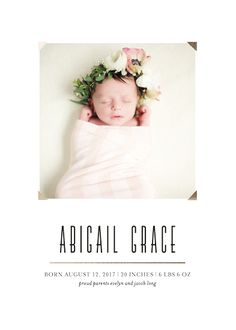 Baby Birth Announcement Template X Card Newborn Announcement - Baby arrival announcement