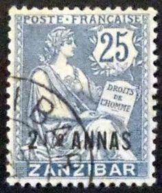 Zanzibar 2.5 Annas c1890