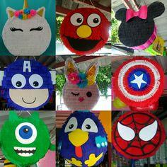 Birthday Pinata, Pinata Party, Mickey Birthday, Unicorn Birthday, Pool Party Kids, Diy And Crafts, Paper Crafts, Diy Birthday Decorations, Ideas Para Fiestas