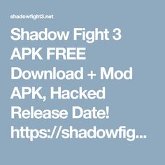 13 Best shadow fight 3 images in 2017 | Android apps