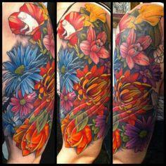 Inspirations Tattoos, Morley, Leeds, West Yorkshire Color Tattoos, Flower Tattoos, West Yorkshire, Leeds, Piercings, Ink, Flowers, Inspiration, Colorful Tattoos