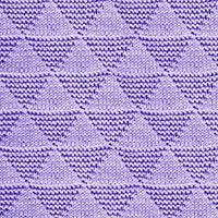 Triangles Knit Purl stitch, free knitting stitch pattern. The stitch can be used for Pillow, Pullover, Scarf and more.