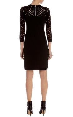 Love this dress as we transition...perfect for the freak snowstorm or the pending rain...no matter which coast...Karen Millen Knit and Mesh Stitch Dress : Dresses