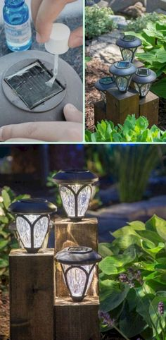 garden lighting DIY Cedar Cube Landscape Lights Tutorial-DIY Solar Inspired Solar Light Lighting Ideas light crafts yards DIY Solar Light Craft Ideas For Home and Garden Lighting Garden Lighting Diy, Backyard Lighting, Outdoor Lighting, Exterior Lighting, Outside Lighting Ideas, Outdoor Lamps, Patio Lighting Ideas Diy, Solar Lights For Garden, Solar Yard Lights