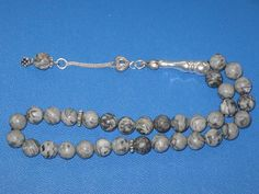 Rosary Islamic Prayer Beads Picasso Jasper Gemstone 33