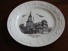 Homer Laughlin thème assiette commémore la Fondation de Christ Church Philadelphie!