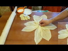 DIY - How to make Kanzashi Flower Roses from Satin Ribbon 5 cm Bosnian Recipes, Turkish Recipes, Desserts Without Eggs, Pinwheel Cake, Macaroni Recipes, Copykat Recipes, Salty Foods, Bread And Pastries, Arabic Food