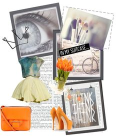 """""""orange.and.blue."""" by arual408 on Polyvore"""