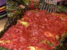 Stuffed Cabbage Rolls (Galumpkis) recipe from Tyler Florence via Food Network