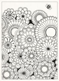 Adult Coloring Pages Full Size - Bing images Adult Coloring Pages, Garden Coloring Pages, Printable Coloring Pages, Colouring Pages, Coloring Sheets, Coloring Books, Doodle Coloring, Mandala Coloring, Free Coloring