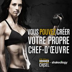 The Master's Hammer and Chisel and Shakeology® Challenge Pack Promo Essentials - Team Beachbody Coach 411 Fitness Motivation Pictures, Fit Girl Motivation, Masters Hammer And Chisel, Citations Sport, Motivation Regime, Workout Motivation, Affirmations, Beach Body Challenge, Beachbody Blog