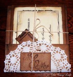 Wedding Invitation Shabby Rustic Country Vintage by thecozyloft, $6.50