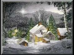 Visit the post for more. Christmas Scenes, Christmas Pictures, Christmas And New Year, Winter Christmas, Christmas Time, Merry Christmas, Beautiful Winter Pictures, Beautiful Gif, Snow Scenes