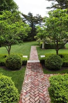 Brick pathways are traditional, but when the bricks are set in a herringbone design, the visual appeal steps up a few notches. For #pathway design and installation in Minneapolis MN, visit http:/www.aldmn.com