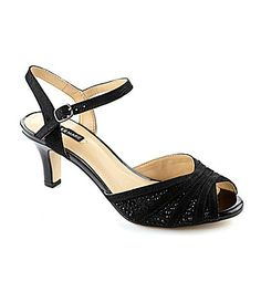 Cute dressy heels I could actually sing in? Maybe!  Alex Marie Maxeene Dress Sandals #Dillards