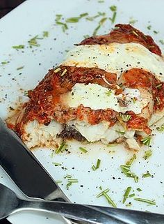 Low fat and low calorie Fish Parmigiana from fit sugar! I love all of these healthy Italian recipes!