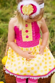 Pink Lemonade Party Dress //  Pink Lemonade by SweetBClothing