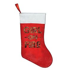 MEXmas Catching Fire Girl On Fire The Hunger Games Santa Holiday Christmas Pockets Xmas Socks Tree Decoration Socks Stocking Gift Bags 165 ** ** AMAZON BEST BUY ** #ChristmasMantleDecor