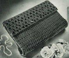 Bag No. 2795 | Free Crochet Patterns. Free vintage purse pattern. Maybe in raffia?