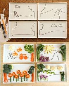 Let kids play with their food, and before you know it, vegetables get eaten.