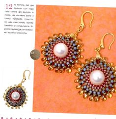 Photo: Beaded Earrings, Crochet Earrings, Drop Earrings, Types Of Stitches, Beading Patterns, Seed Beads, Projects To Try, Sparkle, Jewelry