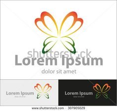 Vector abstract butterfly shape, for a company logo