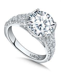 Caro 74, CR426W -- 14K White Gold semi-Mount ring