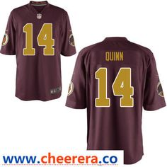 mens washington redskins 14 trey quinn red with gold alternate stitched nfl nike game jersey