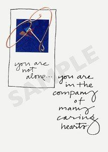 Sympathy Cards - You are not alone... . $4.99. Sympathy Cards - You are not alone...