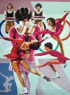 William NELSON, DOROTHY HAMILL, Signed #'d COA, FINE ART LE Litho, 1976 OLYMPICS #Realism